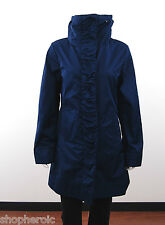 NWT Rainforest Ladies Travel Rain Jacket Coat w/Hood Ruched Front Cobalt Size XS