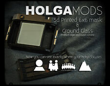3D Printed Holga 120N 6x6 Mask and Ground Glass