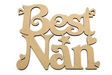 Mum Mothers Day Gift, Present 3mm Unpainted Mdf Plaque Best Nan