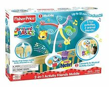 FISHER PRICE BRILLIANT BASICS 2 IN 1 ACTIVITY FRIENDS MOBILE V4436 *NEW*