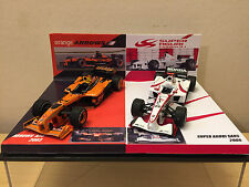 Conversion 1/43 MINICHAMPS A SET of ARROWS A23 + SUPER AGURI F1 SA05