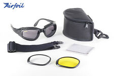 Pacific Coast Sunglasses, Airfoil 9100 Goggles/Glasses, 3 Interchangable Lenses