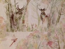 "Voyage Fabric 100% Linen ""Enchanted Forest"" Remnant 68cm Wide x 51cm (270)"