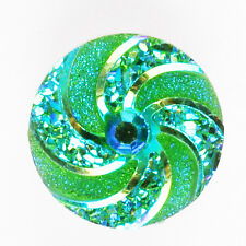 Green Spiral Snaps Chunk Charm Button Fit for Noosa DIY Braclets NS382