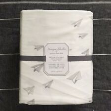 Pottery barn Kids Monique Lhuillier Sateen Scattered Paper Planes Sheet Set twin