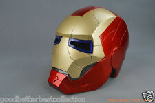 Iron Man Tony Stark Helmet Mask Cosplay 1:1 Mask with LED Light