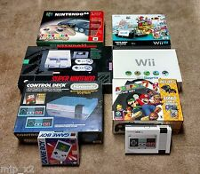 Nintendo Console Lot NES SNES N64 GameCube Wii U GameBoy 3DS XL +extras 10 units