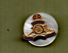 WW2 Royal Artillery  sweetheart Brooch Bronze /enamel
