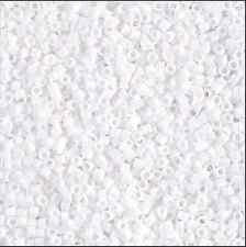 Miyuki Delica Beads - DB0200 Opaque White Japanese 11/0 seed peyote