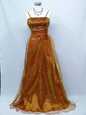 Cherlone Plus Size Gold Ballgown Wedding/Evening Bridesmaid Formal Dress 18-20