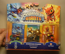 Game Merchandise Skylander Giants 3er Set ZAP/CATAPULT/HOT DOG mit OVP