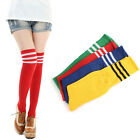 HOT Sexy Womens Girls Thigh High Socks Striped Cotton Socks Over Knee Stockings