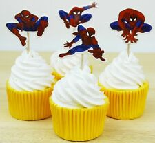 24 pcs Cupcake Cup Cake Decorating,Toppers PARTY DECORATION ,Spiderman