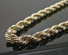 "10K Yellow Gold Thick Rope Chain 30"",8mm Franco,Italian,Miami , Cuben"