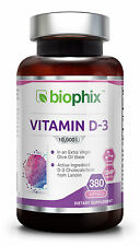 biophix Vitamin D-3 10000 IU 380 Softgels Olive Oil Base