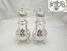 STUNNING PAIR of MEXICAN STERLING SILVER SUGAR CASTOR'S c 1950 15.2 oz