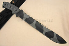 TOPS Knife 111A Steel Eagle HP Knives - Camo w/ RMT Handle - Survival - Camping