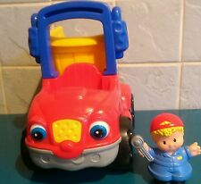FISHER PRICE Little People Tipper Truck Sounds Backloader + Figure