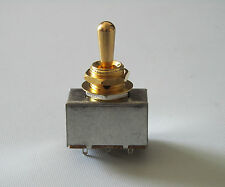 LP Metal Sealed Box Style 3 Way ON/ON/ON Toggle Switch Gold Tip fits Les Paul