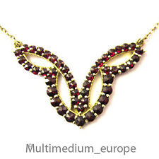 Granat Collier Silber vergoldet 900 silver gilt garnet necklace