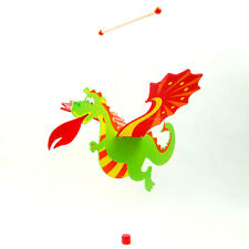 NEW Wooden Flying Dragon nursery room Decor baby mobile