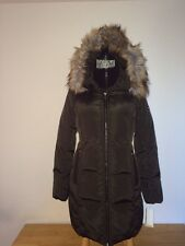 $330 MICHAEL KORS Dark Moss Quilted Puffer Down Hooded Winter Jacket size L
