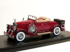 ESVAL MODELS, 1930 Pierce Arrow Model B Roadster, Top Down, 1/43 highly detailed