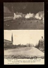 Belgium WW1 West Flanders YPRES La Grand'Place before and after bombardment PPC