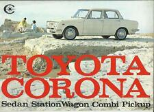Toyota Corona Sedán, Combi, Combi Y Pastilla folleto de ventas finales Años 60