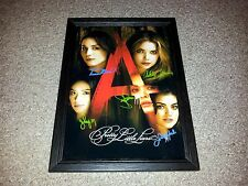 "PRETTY LITTLE LIARS PP SIGNED & FRAMED 12X8"" A4 POSTER SHAY MITCHELL LUCY HALE 2"