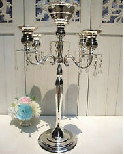 Silve 30 inches 5 Arms Metal Candelabra Wedding Centerpiece Floral Stand(GA,USA)