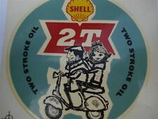 Shell 2T Two Stroke Oil Vintage Waterslide Large Lambretta Vespa