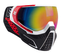 New HK Army KLR Thermal Paintball Goggles Mask - Scorch Red/White - Fusion Lens