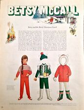 Vintage Betsy McCall Mag. Paper Doll, Betsy and the Bird's Carol, Dec. 1969