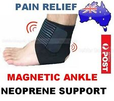 BIO MAGNETIC NEOPRENE ANKLE SUPPORT GUARD BAND/BRACE-SPORTS GYM RSI PAIN RELIEF