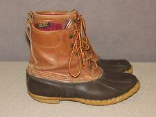 "LL BEAN 8"" BEAN Boots GoreTex MAINE Hunting Shoes Snow Winter Men's Size 9 M"