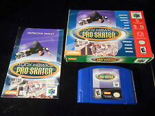 1st Tony Hawk's Pro Skater (Nintendo 64 2001) COMPLETE & TESTED-Game-Box-Manual