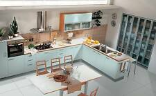 Light Blue Matt Complete Kitchens Rigid PreBuilt Units Cabinets Fitted