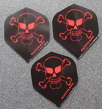 10 Packets of Brand New Ruthless Extra Strong Darts Flights - Skull & Crossbones