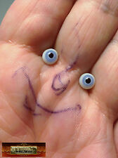 M00651 MOREZMORE Miniature. Glass Eyes 6 mm BLUE Small Mini Tiny Doll Baby A60