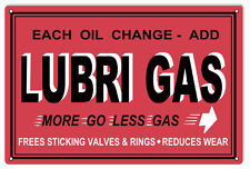 Reproduction Lubri Gas Valves And Rings Motor Oil Sign