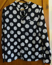 Next Black and White Polka Dot Shirt 14