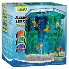 Tetra 29040 Hexagon Aquarium Kit with LED Bubbler, 1-Gallon New