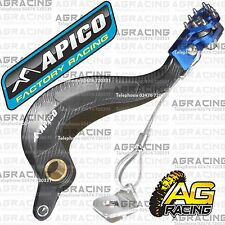 Apico Black Blue Rear Brake Pedal Lever For Yamaha WR 450F 2014 Motocross Enduro