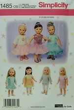 "Simplicity 1485 Sewing PATTERN for 18"" American Girl DOLL CLOTHES Dresses NEW"