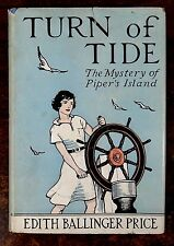 Turn of Tide; The Mystery of Piper's Island 1937 Edith Price SIGNED HC DJ