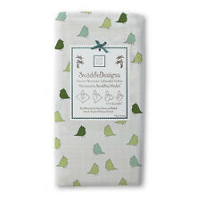 New SwaddleDesigns Marquisette  Swaddling Blanket LITTLE CHICKS Turquoise Green