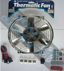 "DAVIES CRAIG 14"" / 14 INCH CHROME THERMATIC THERMO FAN KIT RADIATOR COOL 12 VOLT"