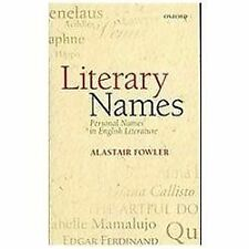 Literary Names: Personal Names in English Literature, Fowler, Alastair, Acceptab