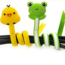 Kawaii Animal Earphone Headphone Wrap Cord Wire Cable Holder Winder OrganizerESU